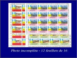 GUATEMALA Poste Aérienne Yvert:576/87, 12 Feuillets De 16 Avec Inscriptions Marginales: Tremblement De Terre      - Qual - Guatemala
