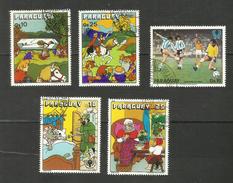 Paraguay POSTE AERIENNE N°809, 810, 813, 835, 836 Cote 5.35 Euros - Paraguay