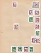ALGERIE FRANCAISE. CACHETS 1959-62.  14 FRAGMENTS. SURCHARGE EA.  ( L ARBA EN ROUGE..) / 6000  10 - Collections (sans Albums)