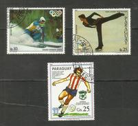 Paraguay POSTE AERIENNE N°851, 852, 856 Cote 4.25 Euros - Paraguay