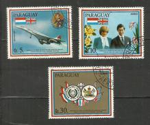 Paraguay POSTE AERIENNE N°873 à 875 Cote 5 Euros - Paraguay