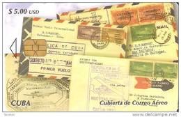 TARJETA DE CUBA DE UNAS CARTAS CON SELLOS (STAMP-SELLO) - Sellos & Monedas