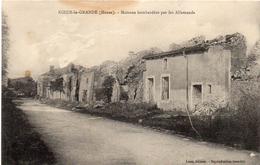 -MEUSE -1915- KOEUR LA GRANDE - Maisons Bombardées Par Les Allemands- - Guerre 1914-18