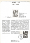 NOTICE PTT 1983 CONTES DE PERRAULT DE GUSTAVE DORE - Documents Of Postal Services