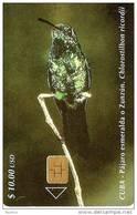 092 TARJETA DE CUBA DE UN PAJARO ESMERALDA (BIRD)