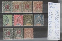 TIMBRES Ex-colonies & Protectorats)  Mohéli (1906-1912) Ob/** NR VOIR SUR PAPIER ACCOMPAGNANT LES TIMBRES COTE 30.30&eur - Neufs