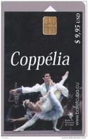 153 TARJETA DE CUBA DEL COPPELIA (BALLET)