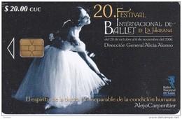 258 TARJETA DE CUBA DEL 20 FESTIVAL INTERNACIONAL DE BALLET DE LA HABANA