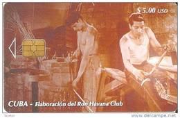 TARJETA DE CUBA DE LA SERIE DEL RON  TALLER DE TONELERIA  Nº3