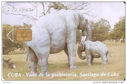 070 TARJETA DE CUBA DE UNOS MAMUT (ELEFANTE-ELEPHANT) - Cuba