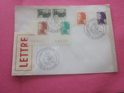 St.Pierre Et Miquelon 1986-1989 Lettre Av Timbres Collection Marianne Liberté Surchargés Av Cachets 1er Jour - Lettres & Documents