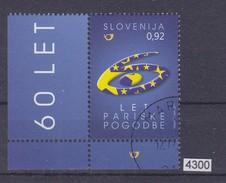 SLOVENIA 2011, Mi: 893, 60th ANNIVERSARY OF PARIS CONTRACT, OBLETNICA PARIŠKE POGODBE, CTO, See Scans - Slovénie
