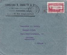 Frankreich,Poste Arienne 1930. Yverz: 5. Laboratoires H Cassette & Cie, Nach Dental - Dépôt Luzern - Poste Aérienne
