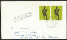 AZ420     Ireland 1974 Cover To France - Oliver Goldsmith - Writer - First Day Of Issue - Storia Postale