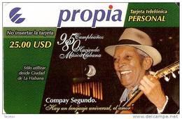 PRD-004 TARJETA DE CUBA PROPIA DE $25 COMPAY SEGUNDO NUEVA-MINT  (MUESTRA) - Cuba