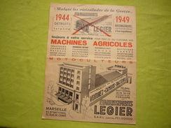 Document Pub 1949 établissements Legier Machines Agricoles à Marseille - Publicités