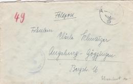 """Feldpost WW2: Schlachtschiff """"Scharnhorst"""" FP M23657 (2. Flakdiv) P/m 27.10.194* - Cover Only (T13-3) - Militaria"""