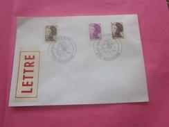 St.Pierre Et Miquelon 1986-1989 Lettre Av Timbre De Collection Marianne Liberté Surchargés Av Cachets 1er Jour - Lettres & Documents