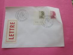 Amérique St.Pierre Et Miquelon 1986-1989 Lettre Av Timbre De Collection Marianne Liberté Surchargés Ave Cachets 1er Jour - Lettres & Documents