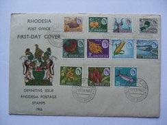 RHODESIA 1966 Independence Issue Fdc 1966 - Rhodesien (1964-1980)