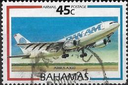 BAHAMAS 1987 Air. Aircraft -  45c. - Airbus Industrie A300 B4-200 FU - Bahamas (1973-...)