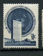 United Nations 1951 10c UN Headquarters Issue #10 - New York - Sede De La Organización De Las NU