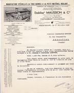 CHATEAUBRIANT - Loire Atlantique . Ets Maussion.  Manufacture D'échelles En Tous Genres.   Beau Document Format  21x29 - Frankreich