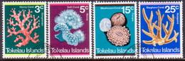 TOKELAU 1973 SG 37-40 Compl.set Used Coral - Tokelau