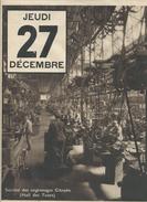 SOCIETE DES ENGRENAGES CITROEN HALL DES TOURS  PAGE DE CALENDRIER ORIGINAL 27 DECEMBRE ANNEE 1910 1920 FORMAT A3 - France