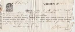 Reçu 10/7/1835 Assurance Compagnie Du Phénix à Londres Pour Cruse Hirschfeld Bordeaux Gironde - Voir Sca - Francia