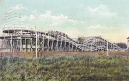 Oakland California, Idora Park Amusement Park Scenic Railway Roller-coaster, C1900s Vintage Postcard - Oakland