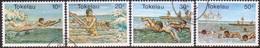 TOKELAU 1980 SG 73-76 Compl.set Used Water Sports - Tokelau