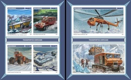 Mozambico 2017, Special Ice Transport, Boat, 4val In BF +BF IMPERFORATED - Other Means Of Transport