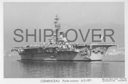Porte-avions CLEMENCEAU (Marine Nationale) - Carte Photo Marius Bar - Ship / Bateau / Schiff - Warships