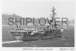 Porte-avions CLEMENCEAU (Marine Nationale) - Carte Photo Marius Bar - Ship / Bateau / Schiff - Guerre