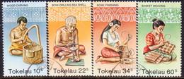 TOKELAU 1982 SG 81-84 Compl.set Used Handicrafts - Tokelau