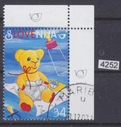 SLOVENIA 2000; Mi: 281; USED CTO; GREETING STAMP, BIRTH, TEDDY BEAR, See Scans