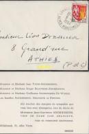 Enveloppe Timbrée Cannes  Willebroek  Pour Athies Pas De Calais - Marcophilie (Lettres)