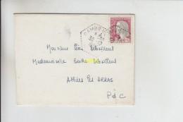 Timbre Sur Enveloppe Cambrai Boda 103 Pour Athies Les Arras - Marcophilie (Lettres)