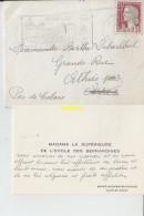 Timbre Sur Enveloppe    Saint Aignan Sur Cher Ecole Des Bernardines   Pour Athies Les Arras - Storia Postale