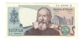 2000 LIRE GALILEO GALILEI CIAMPI STEVANI 1983 Curiosità Carta Azzurrina  Fds LOTTO 1658 - [ 2] 1946-… : Républic