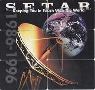 PUZZLE DE 6 TARJETAS DE ARUBA DE SETAR TELECOMUNICACIONES ANTENA PARA SATELITES (SATELLITE) - Astronomy