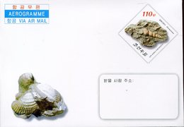 20196 North Korea, Stationery Cover Aerogramme Air Letter 2013 Showing A Fossils Shell, Coquillage,