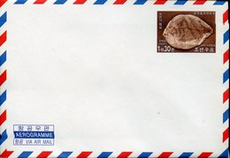 20198 North Korea, Stationery Aerogramme Cover  2002 Showing A Fossils Fish, Fossile De Poisson