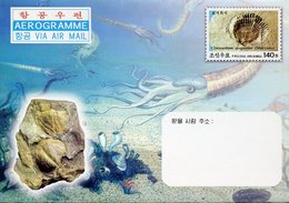 20201 North Korea, Stationery Cover Aerogramme  2004 Showing A Fossil Shell, Coquillage Fossile