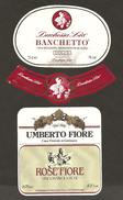 ITALIA - 2 Etichette Vino BRACHETTO Spumante E ROSE' FIORE Cantine DUCHESSA LIA E UMBERTO FIORE Rosato Del PIEMONTE - Vino Rosato