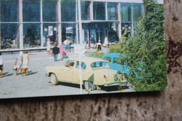 Kazakhstan . Ust-Kamenogorsk / Oskemen . Bus Station - Old Postcard 1970s Taxi Car - Taxi & Carrozzelle