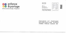 Prêt-à-poster. Enveloppe Réponse Ciappa-Kavena. Eco Postréponse. Enfance Et Partage. - Prêts-à-poster: Réponse /Ciappa-Kavena