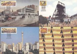 South Africa -1986 - The Golden City, Gold Mining - Complete Set Of Maxi Maximum Cards - Minéraux