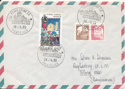 Italy Air Mail Cover Sent To Denmark Udine 28-9-1985 Topic Stamps - 1946-.. Republiek